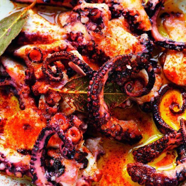 Braised octopus