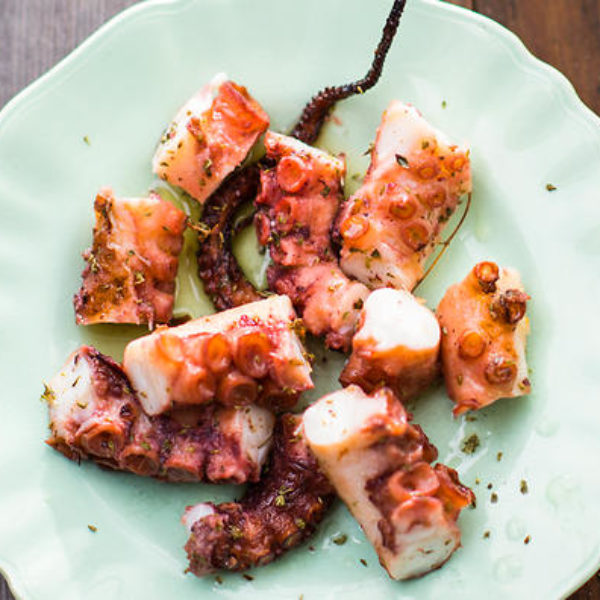 Octopus with paprika and sea salt
